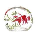 ガラス風鈴 プチくりすたる風鈴 金魚 R-193 会津喜多方 蒔絵仕上げ 手作り風鈴 木之元