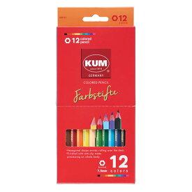 KUM 色鉛筆12色 KM161 六角軸 レイメイ藤井