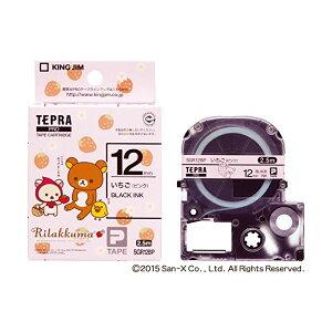 キングジム テプラPRO テープカートリッジ リラックマラベル 12mm いちご(ピンク) 黒文字 SGR12BP