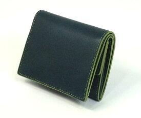 038f832321c6 THINLY スィンリー Hシリーズ(ヌメ革) 小銭入つき札入 ブルー色 SL