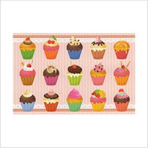 ● ラブリーカラーのカップケーキ達 「 アラカルト・ポストカードのみ」 絵はがき・ポストカード 【メール便OK】