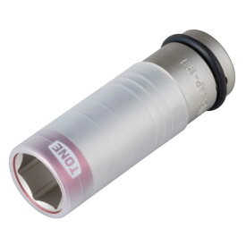 自動車専用インパクト TONE 4AP-19N プロテクター付インパクト用 薄形ホイルナット ソケット 二面幅寸法 19M/M