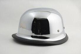 (アウトレット)BICYCLE HELMET/GERMAN HALF HELMET/ジャーマンハーフヘルメット/クローム/メッキ(検索ワード)装飾用ジャーマンヘルメット・ナチヘル・ドイツ・アメリカン・USAノベルティー・ハンボウ・半帽・半ヘル・スケボー・SK8・スノボー・MTB