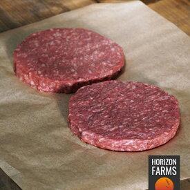 USDA チョイス ビーフパティ 冷凍 無添加 バーガーパティ 2枚 340g 最高品質 アメリカンビーフ 熟成 グラスフェッド グレインフィニッシュ ホルモン剤不使用 抗生物質不使用 バーガーパテ 砂糖不使用 牛肉 100%