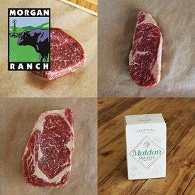 モーガン牧場ビーフ アメリカ産 牛肉 お得な ステーキ ギフトセット 最高品質 アメリカンビーフ 熟成 グラスフェッド グレインフィニッシュ 成長促進ホルモン剤・抗生物質不使用 4点セット