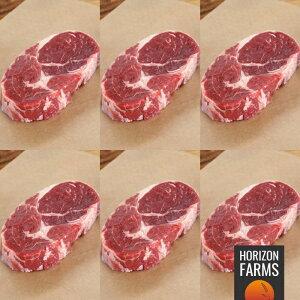 オーストラリア産 100% グラスフェッド プレミアム ビーフ アンガス牛 リブロース ステーキ 300g x 6 合計1.8kg セット 牧草牛 ホルモン剤不使用 抗生物質不使用 遺伝子組換え飼料不使用 送料無