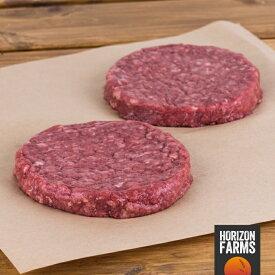 オーストラリア産 100% グラスフェッド ブラックアンガス牛 ビーフ ハンバーガー パティ 2枚 冷凍 牧草牛 無農薬 ホルモン剤不使用 抗生物質不使用 遺伝子組換え飼料不使用 ビーフパティ オージー・ビーフ 100%牛肉のみ