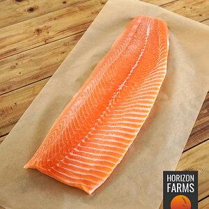 タスマニア産 最高級 アトランティック 冷凍 サーモン フィレ 半身 切身 刺身 皮なし 1kg 以上 (1.2kg) 骨なし 生食 タスマニア サーモンステーキ 安全な養殖魚 安全な魚 切り身 残留 抗生物質