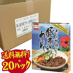 【送料無料】美ら島沖縄で作った豚煮込みカレー まとめ買い20箱 沖縄土産 ご当地カレー レトルトカレー