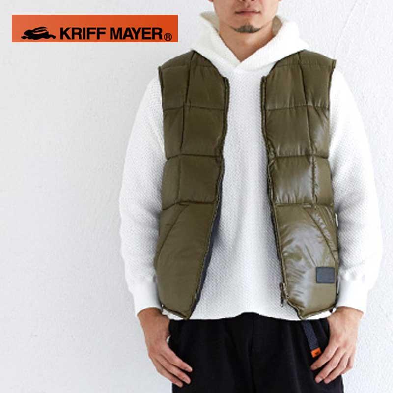 Kriff Mayer(クリフメイヤー)KRIFF MAYER × NANGA リバーシブルダウンベスト【日本製】【1629900】
