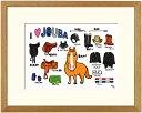 額付きイラスト大衣サイズ 〜I♡JOBA〜馬のイラストレーター おがわじゅり 直筆サイン入り送料無料