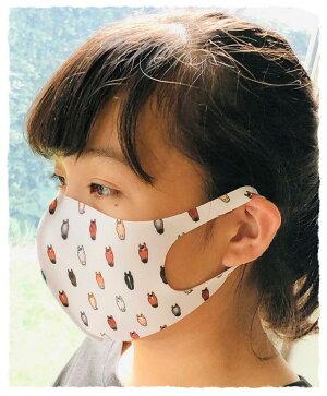 馬のだらけ〜マスク:洗えるマスク・吸汗速乾おがわじゅりイラストマスク馬柄マスク選べる2サイズポリエルテルマスク