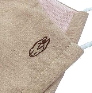 馬マスク:使い捨てない布マスク・制菌おがわじゅりイラストモチーフ刺繍ワンポイント馬柄マスク男女兼用大人用サイズ1個国内生産