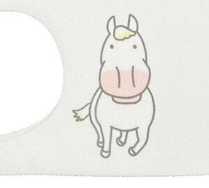 馬の毛色カラーマスク:白毛:White洗えるマスク・吸汗速乾おがわじゅりイラストマスク1枚売りセットではありません馬柄・毛色・マスク選べる2サイズポリウレタンマスク※マスクケースは別売りです※