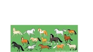 おがわじゅりの馬イラスト・ボールペン【馬の品種】BP12≪メール便可≫