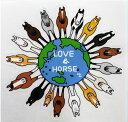 LOVE&HORSE〜馬は地球を救う?!〜馬のイラストレーターおがわじゅりステッカー【ゆうメール便(小型宅配便選択)OK】