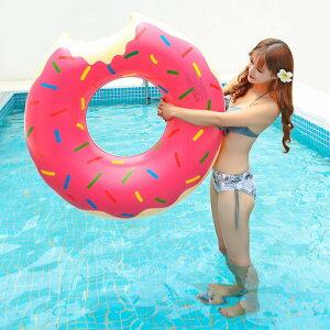 【送料無料】【即納】 浮き輪 大人用 90cm フロート ドーナツ スウィーツ ピンク レディース 女の子 ガールズ 90 60 チョコレートトッピング