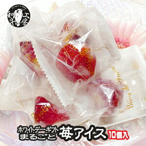 ホワイトデー まるごと苺アイス 10個入り ギフト 高級焼肉店で大人気のスイーツがご家庭で味わえちゃう