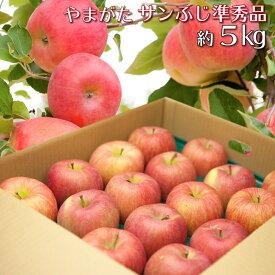 山形県産 りんご サンふじ 準秀品 約5キロ 産地直送 林檎 リンゴ 5kg 送料無料 【沖縄および離島への発送不可】