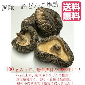 【送料無料!】100g入!!国産 でかどんこ干し椎茸  干ししいたけ 干しシイタケ 乾燥しいたけ 乾燥椎茸