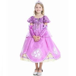 子供ドレス コスプレ ソフィア 小さいなプリンセス キッズ ハロウィン princess 衣装 仮装 子供 コスチューム プリンセス 子供用 なりきり お姫様 子ども ロング 子供服 クリスマス プリンセ