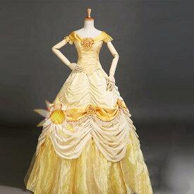 プリンセスドレス ベル コスプレ 大人用 プリンセス 女王 ハロウィン クイーン princess 衣装 仮装 女性 コスチューム 女性用 なりきり お姫様 レディース ロング クリスマス プリンセスワンピース 童話 なりきりワンピース 舞台衣装 パーディー ステージH385