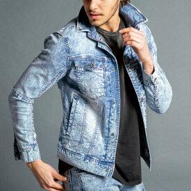 7410S 限定色35ケミカルブルー・アイズフロンティア 春夏用 アイスフィールデニムジャケット
