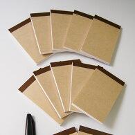 名刺サイズメモ帳K5-JW-50【Sセット・10冊】なか紙:上質紙(白・無地)・50枚