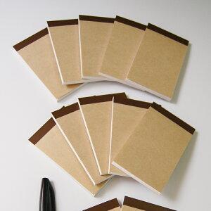 名刺サイズメモ帳 K5-JW-50【お徳用Mセット・40冊】なか紙:上質紙(白・無地)・50枚