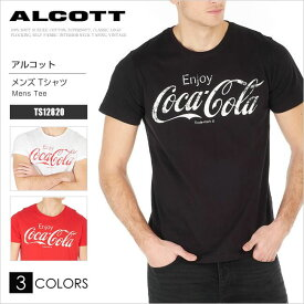 ALCOTT Tシャツ 半袖 コカ・コーラ TS12820 アルコット ロゴプリント ユニーク AC11517SL メール便送料無料