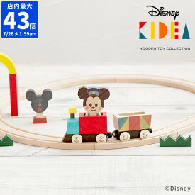\★ポイント5倍★送料無料★/【Disney | KIDEA TRAIN&RAIL ミッキーマウス TYKD00503】【ディズニー キディア キデア ミッキー 汽車 機関車 列車 キッズ ベビー 木製 おもちゃ 3歳から 贈り物】