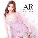 【先行発売 予約】AngelR ショルダーアシンメトリービジュータイトミニドレス パーティードレス AR21317 []