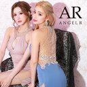 【先行発売 予約】AngelR バックビジューラインタイトミニドレス パーティードレス AR21318 []