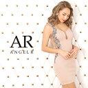 AngelR サイドラグジュアリービジュータイトミニドレス キャバ ドレス タイト ノースリーブ レース パーティードレス 結婚式 ボディコン AR20210 []