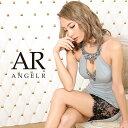 先行発売!!【予約】AngelR デコルテ&バストビジューカッティングレースタイトミニドレス キャバ ドレス タイト ノー…