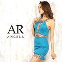 AngelR シアー&ビジューデザインタイトミニドレス キャバ ドレス 肩出し ノースリーブ セクシー パーティードレス 結…