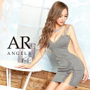AngelR Vカットバストビジュースリットタイトミニドレス パーティードレス AR20234 []