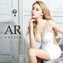 AngelR フラワー刺繍アシンメトリータイトミニドレス パーティードレス ボディコン AR21304 []