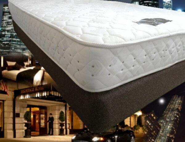 本物の高級ホテル客室仕様のベッド 一流ホテル納入快適モデル「上下セット」Q1ワイドダブルサイズ (ポケットハードタイプマットレス+ボックススプリングボトム(固定脚キャスターセット)自宅がホテルに!!)熟睡ホテルの寝心地