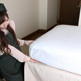 ボックスシーツ 900 シングルサイズ/(ホテルではフラットな「メイキングシーツ」が一般的ですがご家庭ではベッドメイクし易い、この箱型(ボックス型)シーツも大人気)