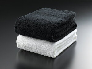 バスタオル マイクロコットンラグジュアリー 76cm×137cm 高級ホテル 超長綿100 刺繍不可 ホワイト ブラック 白 黒 送料無料