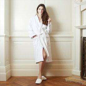 バスローブ ホテルサテンステッチローブ ユニセックス メンズ レディース 高級ホテル綿100% ギフト対応 刺繍可能 名入れ ホワイト グレー 白
