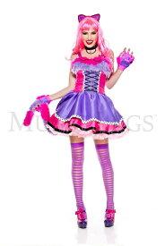 """【Music Legs】 70721 Wonderland Kitty ミュージックレッグス レディース """"不思議の国のアリス""""チャシャ猫 コスチューム"""