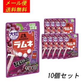森永 大粒ラムネ 《ぶどうスカッシュ》 38g×10個【メール便送料無料】