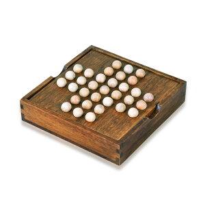 ペグソリティア ブラウンカラー 一人遊び 木製ボードパズル 木のおもちゃ 知育 教育玩具 脳トレ 知育玩具 暇つぶし 大人も子供も 発想力 思考判断力 ONLY33S