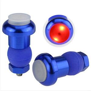 【左右セット】LED警告灯 自転車ハンドル 夜間 ハンドルバーライト 警告灯 サイクリング 16-23mmハンドル汎用 ブルー限定 CHLS2