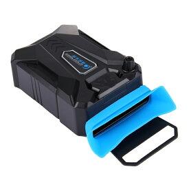 ノートパソコン用吸引式冷却ファン ノートPC ラップトップ CPUクーラー USB給電 USB冷却器 温度センサー搭載 サイズアダプタ3個付き PCCFAN03