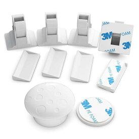 マグネット式キャビネットロック 磁気式キー+ロック4個セット 取付簡単 簡易ロック ケガや事故防止 お子様のいたずら 地震対策に ベビーガード BLOD756