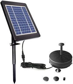 ソーラー噴水ポンプ LEDライト付き 池ポンプ 噴水ポンプ ソーラーパネル発電ポンプ 太陽光発電 蓄電 池 庭 ガーデン用に 夜間点灯 LSP035