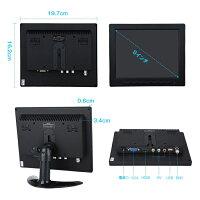 8インチIPS液晶スピーカー内臓オンダッシュモニターメディアプレイヤー動画対応HDMI/VGA/RCA入力USBメモリ再生上下左右反転バックカメラ信号対応DC12VCMN800